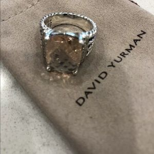David Yurman Wheaton Diamond Morganite Ring